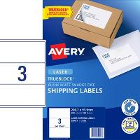 AVERY L7155 200.7X93.1mm LABEL 3/S  BX100
