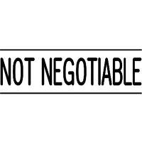 DESKMATE PRE INK STAMP NOT NEGOTIABLE BLACK