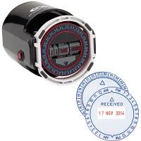 COLOP R40 TIME & DATE STAMP 12HR 4mm TYPE SELF INKING BLUE/RED