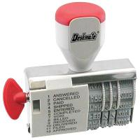 DESKMATE DIAL-A-PHRASE STAMP DATE 12 PHRASES 4mm