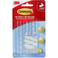 3M COMMAND CLEAR DECORATOR CLIP 17026CLR PACK OF 20