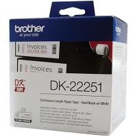 BROTHER DK-22251 LABEL ROLL WHITE PAPER 62mmx15.24mm