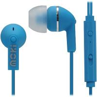 MOKI NOISE ISOLATION EARPHONES WITH MIC AND CONTROLLER BLUE