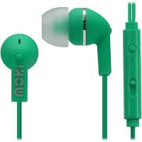 MOKI NOISE ISOLATION EARPHONES WITH MIC AND CONTROLLER GREEN