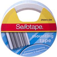 SELLOTAPE PERMANENT MOUNTING TAPE 24mmx2m WHITE