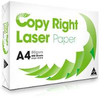400 REAM PALLET COPY RIGHT LASER AUSTRALIAN MADE A4 80GSM COPY PAPER WHITE